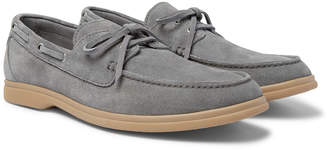 Brunello Cucinelli Suede Boat Shoes - Men - Gray
