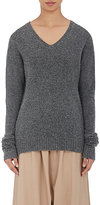 Pas De Calais Women's V-Neck Sweater-GREY