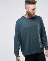 Asos Oversized Sweater in Blue Cotton