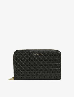 Ted Baker Betteey bee zip-charm leather purse