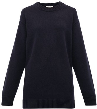 The Row Vaya Cashmere Sweater - Womens - Navy