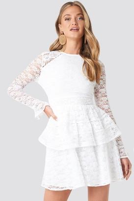 NA-KD All Over Lace Midi Dress