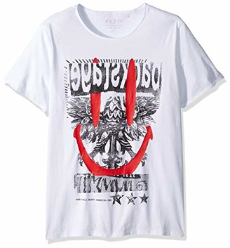 GUESS Men's Backstage Graphic Tee Pure White