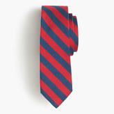 J.Crew English silk repp tie in classic stripe