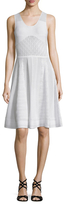 Prabal Gurung Pointelle Flared Dress