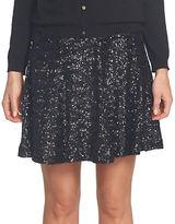 CeCe Sequin Mesh Flounce Skirt