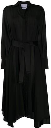 Erika Cavallini Tie Waist Asymmetric Hem Shirt Dress