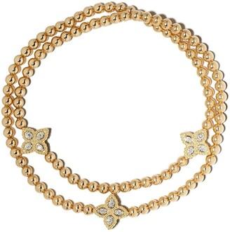 Roberto Coin 18kt yellow gold diamond Princess Flower bracelet