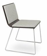 Ash Upper SquareTM Sawyer Guest Chair Upper Square Seat Color: Silver/Natural