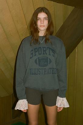 Urban Renewal Vintage Recycled Lace Trim Sport Sweatshirt
