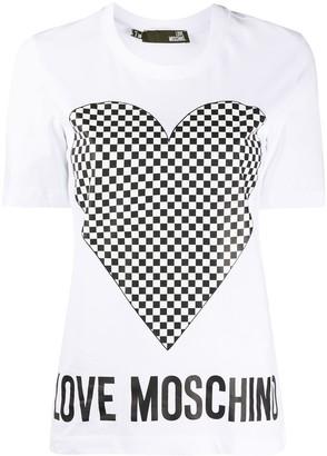 Love Moschino heart logo T-shirt
