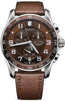 Victorinox Men's Mens Classic XLS Stainless Steel and Leather Chronograph Watch