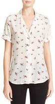 Equipment Women's Colette Dragonfly Print Silk Shirt