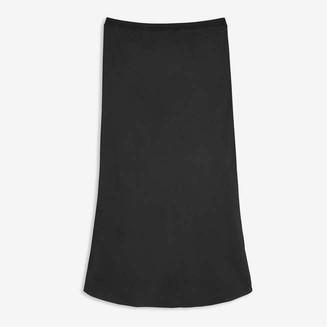 Joe Fresh Women's Satin Skirt, JF Black (Size L)