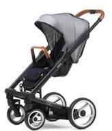 Mutsy Igo Urban Nomad Stroller in Black/White & Blue