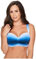 Bleu Rod Beattie Hola Ombre Shirred Bandeau Bikini Top Women's Swimwear