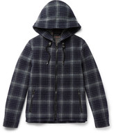Lanvin Checked Wool Hooded Jacket