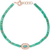 Pascale Monvoisin Montauk 9-karat Rose Gold, Turquoise And Bakelite Bracelet