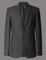 Marks And Spencer Pure Wool Tailored Fit 2 Button Jacket With Buttonsafetm