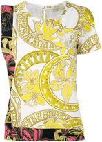 Versace printed top - women - Polyester/Spandex/Elastane - 42