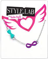 Fashion Angels Purple & Silvertone Infinity Charm Necklace