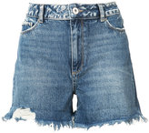 Paige fitted denim shorts - women - Cotton/Spandex/Elastane - 23