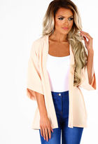 Pink Boutique Count On Me Nude Short Sleeve Blazer