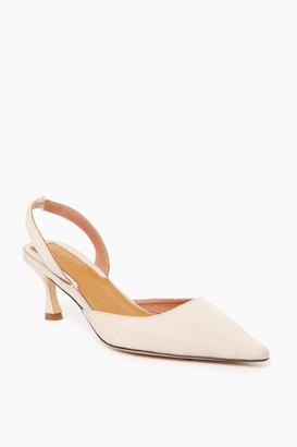 Jaggar Footwear Ivory Epoch Slingback Heels