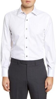 Lorenzo Uomo Trim Fit Stripe Dress Shirt