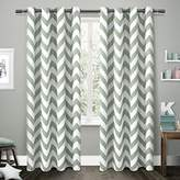 "Exclusive Home EK5304-03 2-96G Kids Mars Woven Room Darkening Thermal Grommet Top Window Curtain Panel Pair, Seafoam, 54"" X 96"""