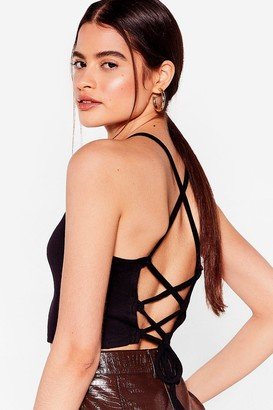 Nasty Gal Womens You're Makin' Us Very Strappy Crop Top - Black