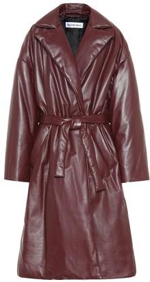 Balenciaga Padded leather coat