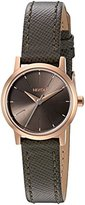 Nixon Women's A3982214-00 Kenzi Watch With Leather Band ( Rose Gold / Taupe ) .