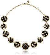 House Of Harlow Gold/Black Phoebe Caged Statement Choker Necklace