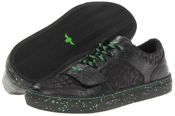 Creative Recreation Cesario Lo X (Big Kid) (Black Tech/Neon Green) - Footwear