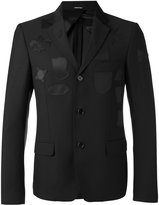 Alexander McQueen logo patch blazer - men - Viscose/Wool - 48