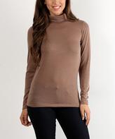 Tan Turtleneck Sweater