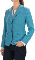 Specially made Herringbone Wool Blend Blazer (For Women)