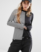 Daisy Street Reconstructed T-Shirt In Stripe