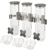 Zevro SmartSpace Edition Wall Mount Dry Food Dispenser Triple 13Oz. Canisters