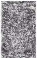 nuLoom Hand Woven Silky Shine Solid Shag Rug, Silver, 6'x9'