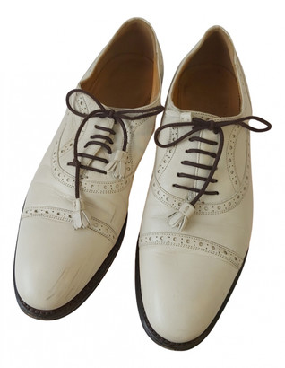 Gucci Beige Leather Lace ups
