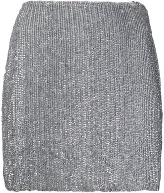 retrofete Metallic Sequin Mini Skirt