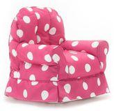 Comfort Research Big Joe Babs Chair Gabardine Bean Bag Armchair in Pink and White Dot