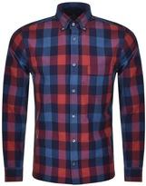 Aquascutum London Luke Long Sleeve Club Check Shirt Red