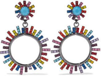 Elizabeth Cole Everly 24-karat Gold-plated Crystal Earrings