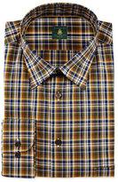 Robert Talbott Plaid Woven Dress Shirt, Leaf