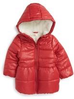 Pumpkin Patch Infant Girl's Hooded Puffer Jacket