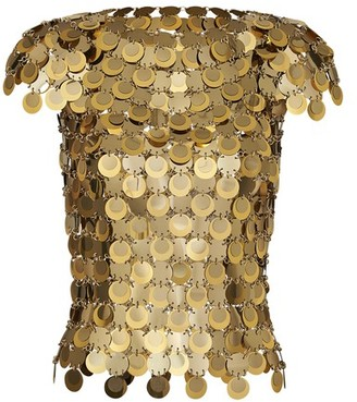Paco Rabanne Top with mirror-effect discs