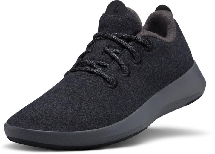 Women's Wool Runner Mizzles - Natural Black (Dark Grey Sole)